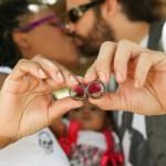 Wedding; rings; kissing