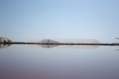 Giant salt mountain in the Camargue, France