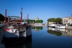 Riverboats outside of Aigues Mortes